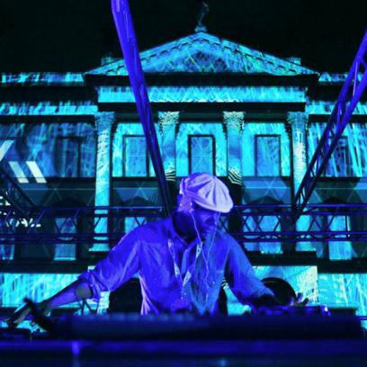 DJ Spooky Preforming