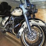 Detail of Painting by Bridge House Client Richard Lake