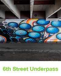 6th street underpass mural