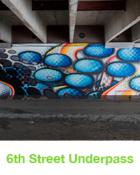 6th street underpass mural