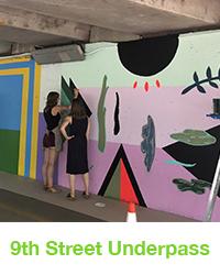 9th street underpass mural